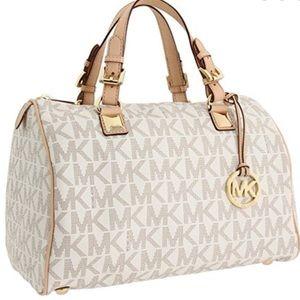Michael Kors Grayson Large Vanilla Handbag